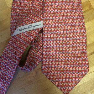 Salvatore Ferragamo made in Italy necktie red